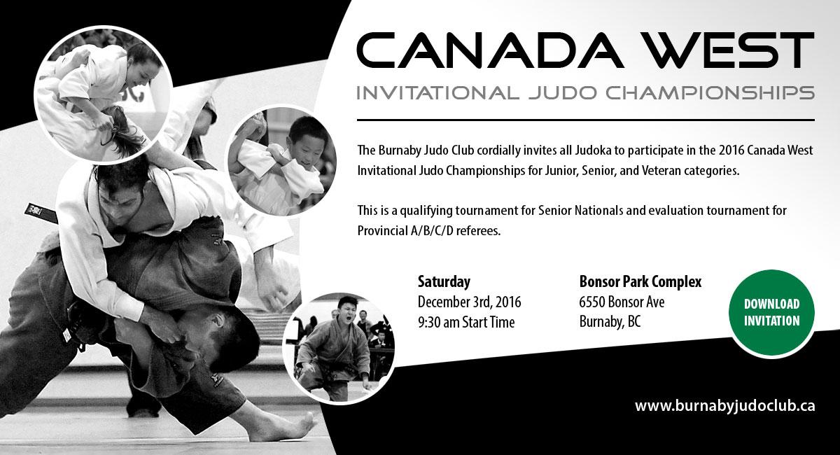 2016 Canada West Invitational Judo Championships